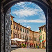 Montalcino Loggia Art Print