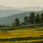 Montana Morning Print by Crista Forest