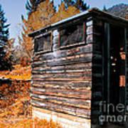Montana Outhouse 03 Art Print