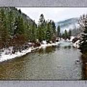 Montana Winter Frame Art Print