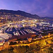 Monte Carlo Harbor  Art Print