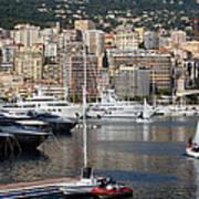 Monte Carlo Sailing - Monaco French Riviera Art Print