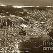 Aerial Of Monterey And Pacific Grove  California Oct. 25 1934 Art Print