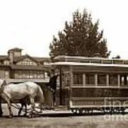 Monterey And Pacific Grove Street Railway Circa 1895 Art Print