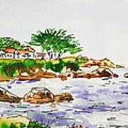 Monterey- California Sketchbook Project Print by Irina Sztukowski