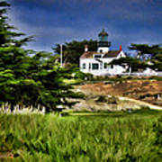 Monterey Lighthouse Art Print