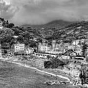 Monterosso Al Mare - Cinque Terre In Grey Art Print