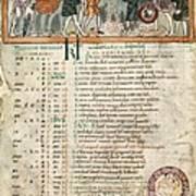 Month Of December, Anglo-saxon Calendar Art Print