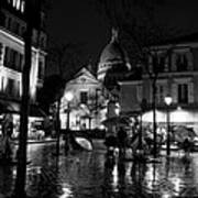 Montmartre Black And White W  Art Print