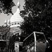 Montmartre Funicular  Art Print
