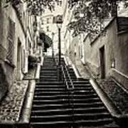 Montmartre Mono 01 Art Print