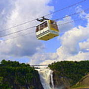 Montmorency Falls And Gondola Art Print