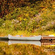 Montpelier Canoe Art Print by Deborah Benoit
