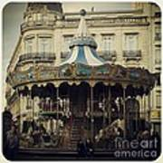Montpellier Carousel Art Print