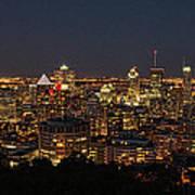 Montreal At Night Art Print