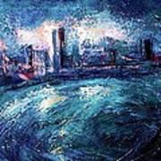 Montreal At Night Art Print by Ion vincent DAnu