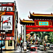 Montreal China Town Art Print