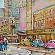 Montreal Forum Canadiens Hockey Landmark Vintage Scene Carole Spandau Art Print