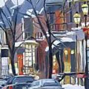 Montreal Hiver Crescent Art Print