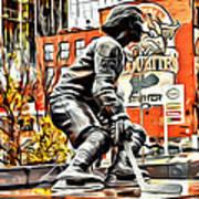 Montreal Hockey Lady Art Print