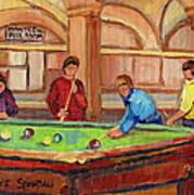 Montreal Pool Room Art Print