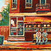 Montreal Street Scene Paintings Art Print