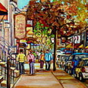 Montreal Streetscenes By Cityscene Artist Carole Spandau Over 500 Montreal Canvas Prints To Choose  Art Print