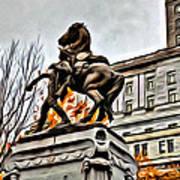 Montreal War Horse Art Print