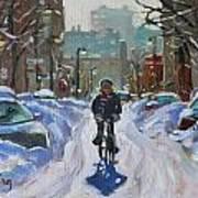 Montreal Winter Fastest Transportation Art Print