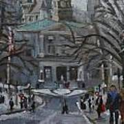 Montreal Winter Mcgill Art Print
