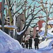Montreal Winter Mile End Shabbat Art Print