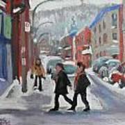 Montreal Winter Scene Mont Royal Art Print