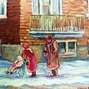 Montreal Winter Scenes Art Print