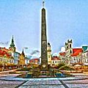 Monument In B.bystrica Art Print