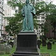 Monument John Watts Trinity Churchyard New York Art Print