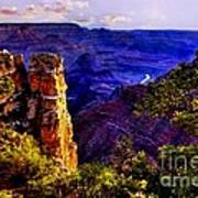 Monument To Grand Canyon  Art Print