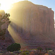 Monument Valley At Sunset 2 Art Print