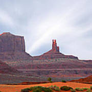 Monument Valley At Sunset Panoramic Art Print