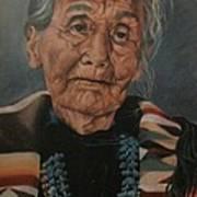 Monument Valley Lady Art Print