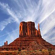 Monument Valley - Left Mitten 2 Art Print by Mike McGlothlen