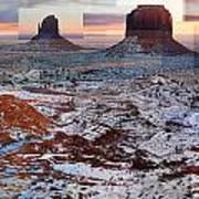 Monument Valley Mittens Art Print
