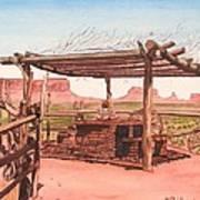 Monument Valley Overlook Art Print