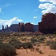 Monument Valley Scenic View Art Print