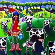 Moo Cow Farm Art Print