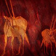 Moods Of Africa - Gazelle Art Print