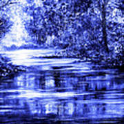 Moody Blue Art Print by Ann Marie Bone