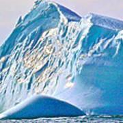 Moody Blues Iceberg Closeup In Saint Anthony Bay-newfoundland-canada Art Print