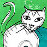 Moody Cat- Pop Art Art Print