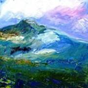 Moody Sky Over Eagle Hill In Spring  Art Print