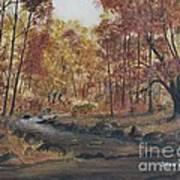 Moody Woods In Fall Art Print